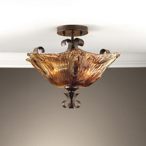 Vetraio 2 Light Glass Semi Flushmount - taylor ray decor