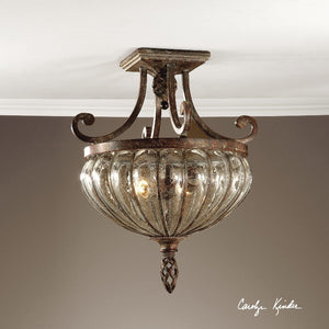 Galeana 2 Light Glass Semi Flushmount - taylor ray decor