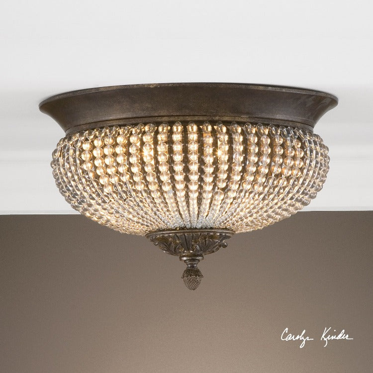 Cristal De Lisbon Crystal Flush Mount - taylor ray decor