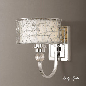 Brandon 1 Light Nickel Plated Wall Sconce - taylor ray decor