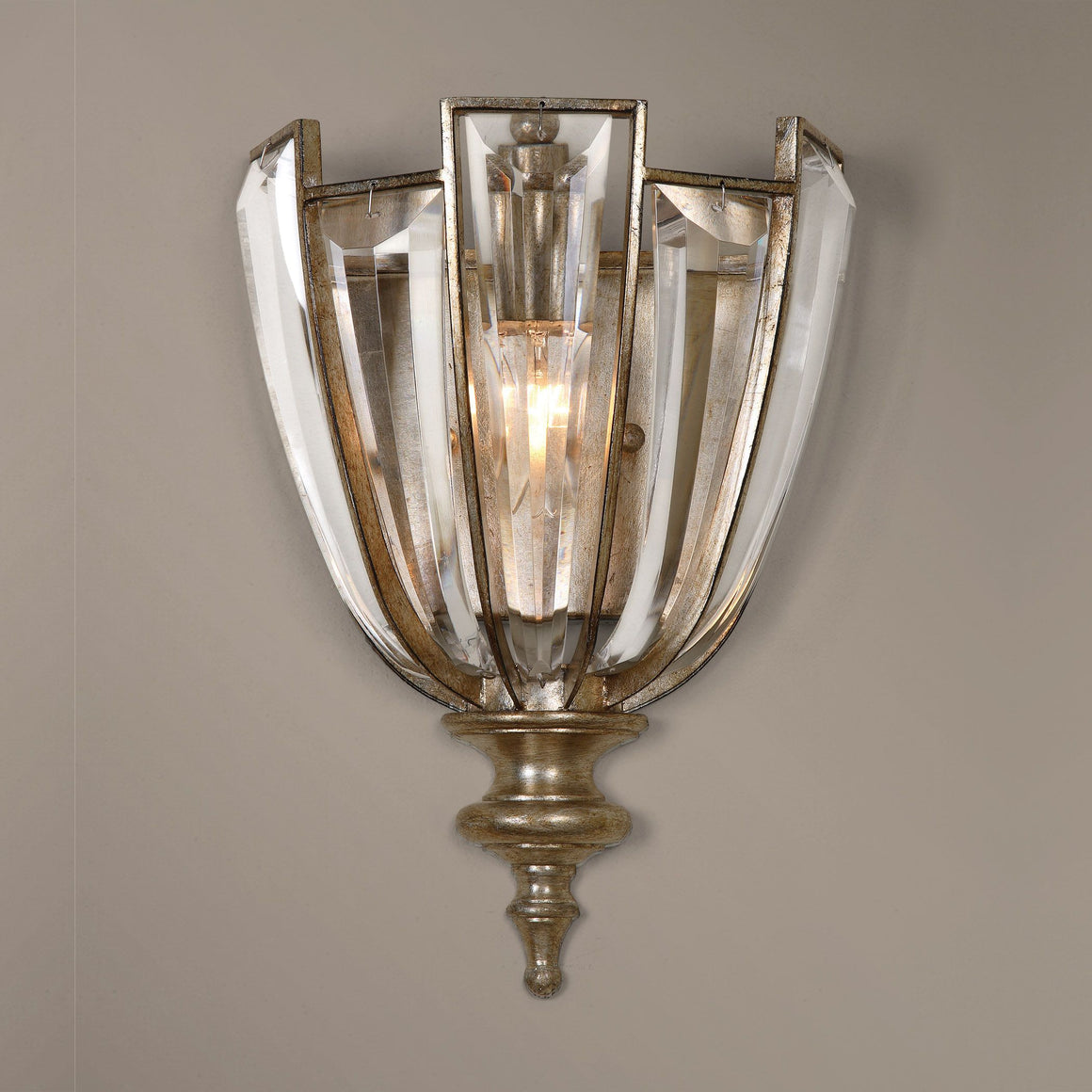 Vicentina 1 Light Crystal Wall Sconce - taylor ray decor
