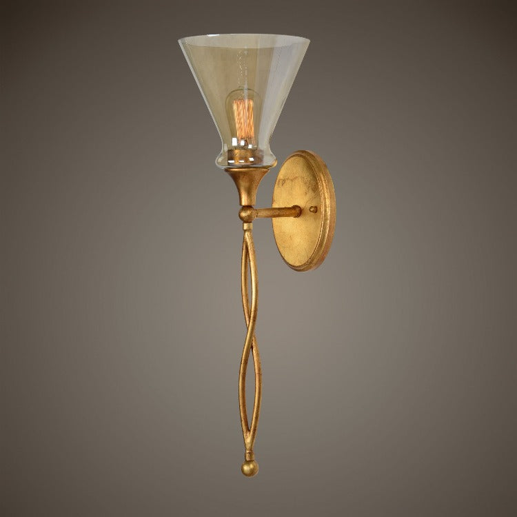 Glam 1 Light Gold Sconce - taylor ray decor