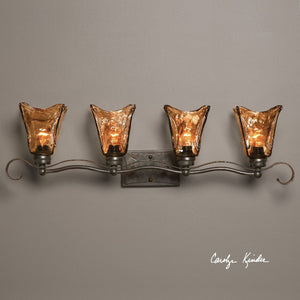 Vetraio 4 Light Bronze Vanity Strip - taylor ray decor