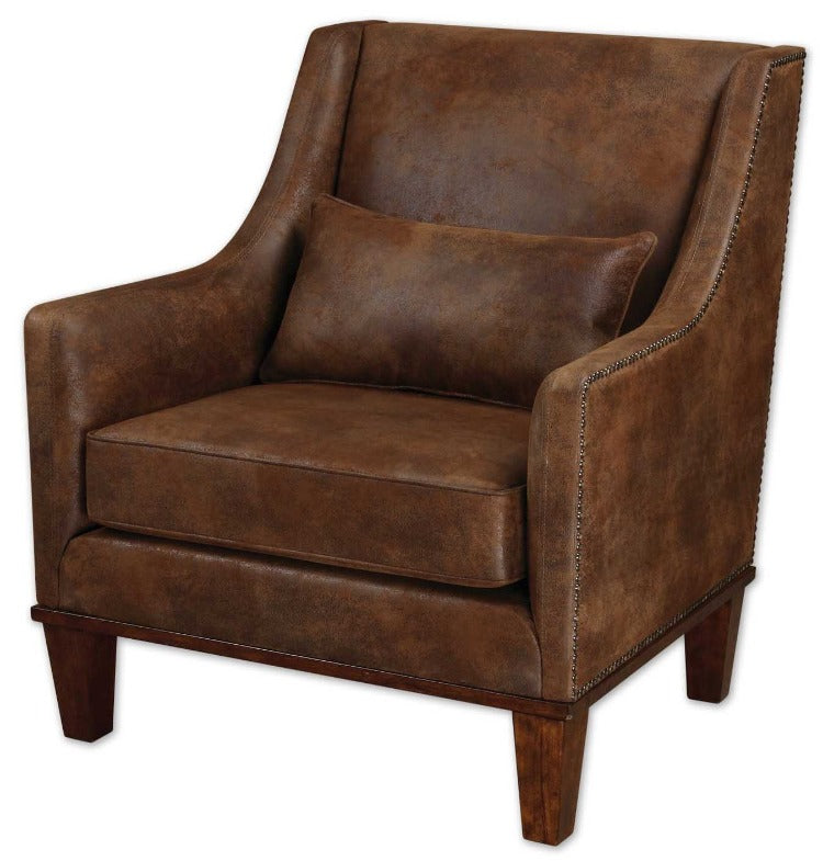 Clay Faux Leather Armchair - taylor ray decor