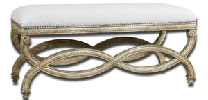 Karline Natural Linen Bench - taylor ray decor