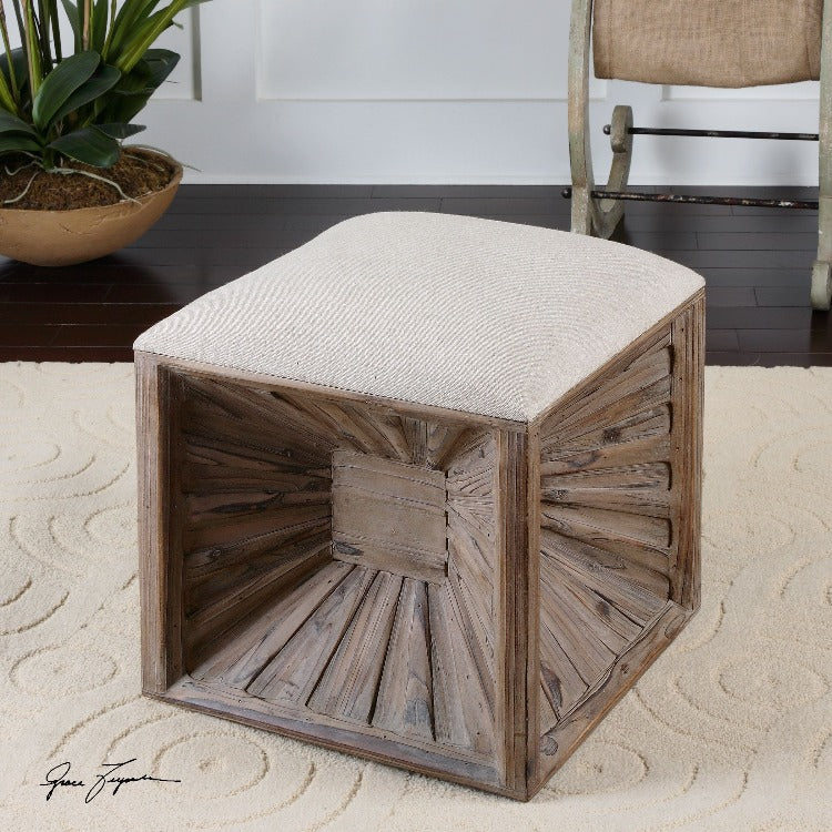 Jia Wooden Ottoman - taylor ray decor