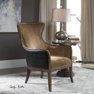 Snowden Traditional Wing Chair - taylor ray decor