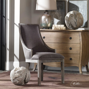 Aidrian Charcoal Gray Accent Chair - taylor ray decor