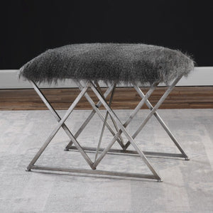 Astairess Fur Small Bench - taylor ray decor