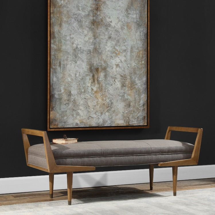 Image of: Waylon Mid Century Modern Bench Online Interior Design Store And Service Provider
