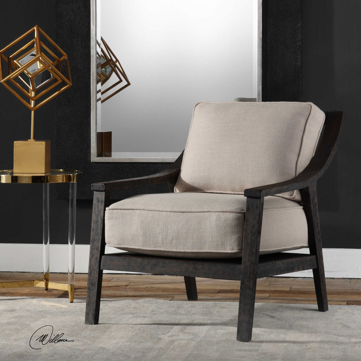 Lyle Rustic Accent Chair - taylor ray decor