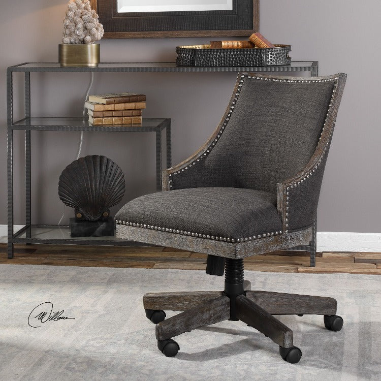 Aidrian Charcoal Desk Chair - taylor ray decor