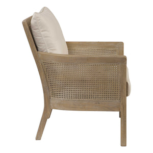 Encore Natural Off-White Armchair - taylor ray decor