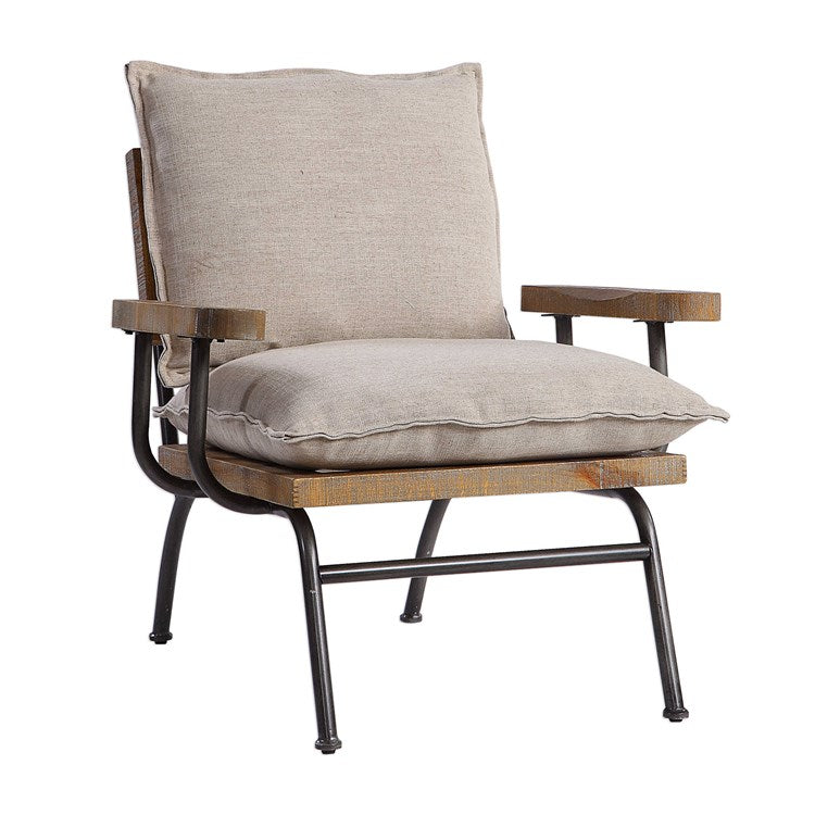 Declan Industrial Accent Chair - taylor ray decor