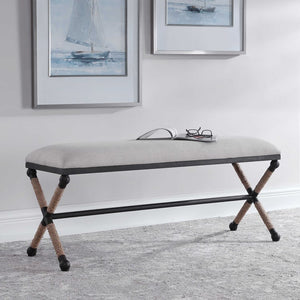 Firth Nautical Iron Bench