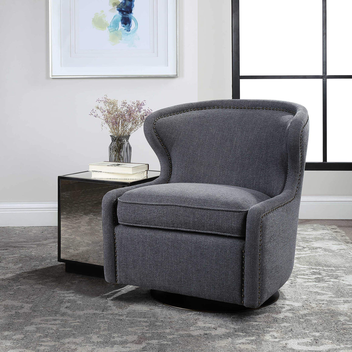 Biscay Swivel Chair - taylor ray decor