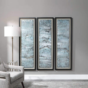 Ocean Swell Framed Prints, S/3, 3 Cartons