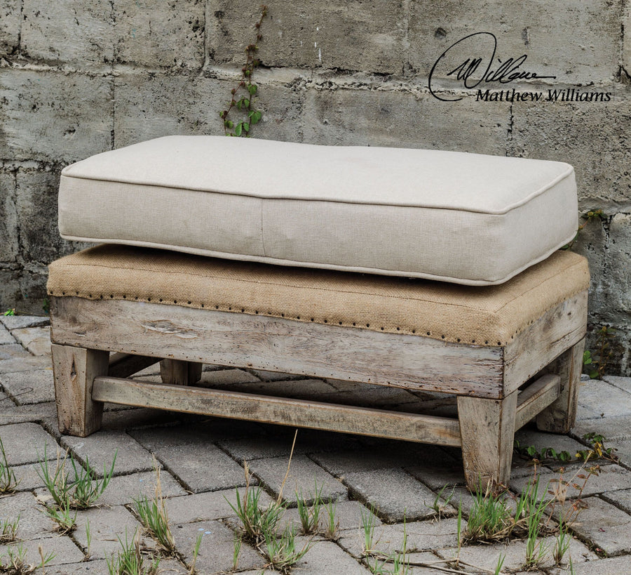 Schafer Linen Ottoman - taylor ray decor
