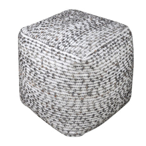 Valda Linen Wool Pouf - taylor ray decor