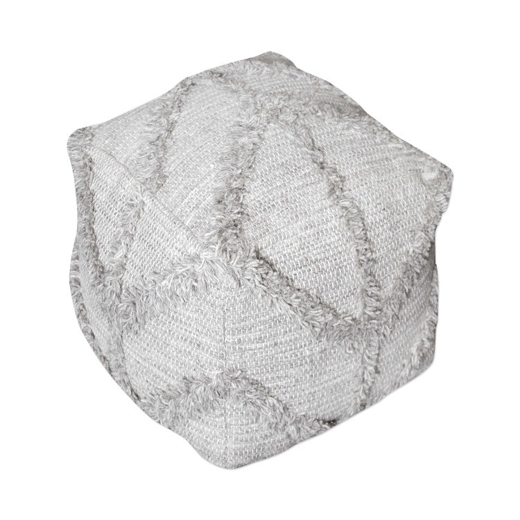 Olfen Gray Pouf - taylor ray decor