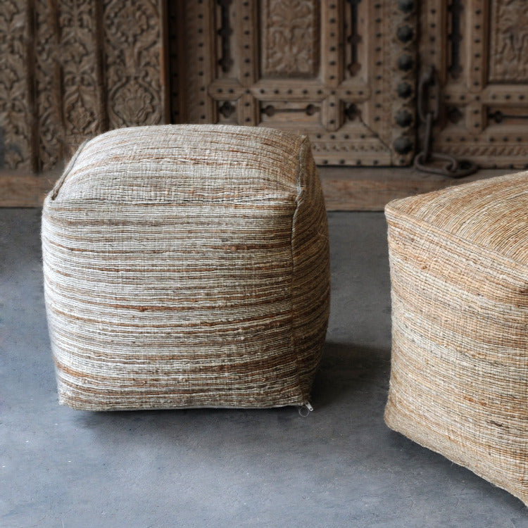 Shiro Beige Pouf - taylor ray decor