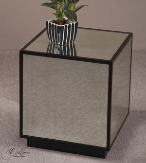 Matty Mirrored Cube Table