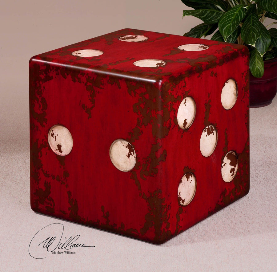 Dice Red Accent Table - taylor ray decor