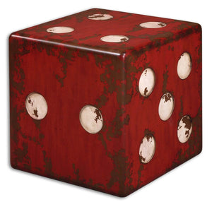 Dice Red Accent Table