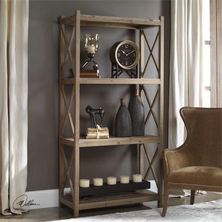 Stratford Reclaimed Wood Etagere - taylor ray decor