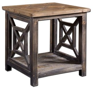 Spiro Reclaimed Wood End Table - taylor ray decor