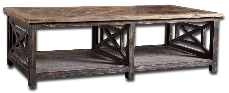 Spiro Reclaimed Wood Cocktail Table