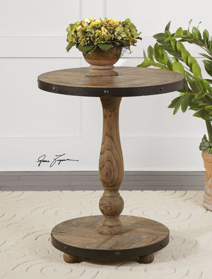 Kumberlin Wooden Lamp Table - taylor ray decor