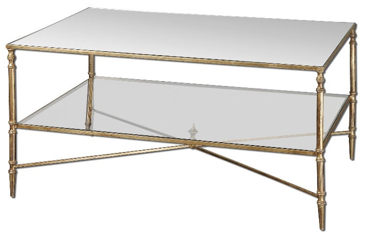 Henzler Mirrored Glass Coffee Table - taylor ray decor