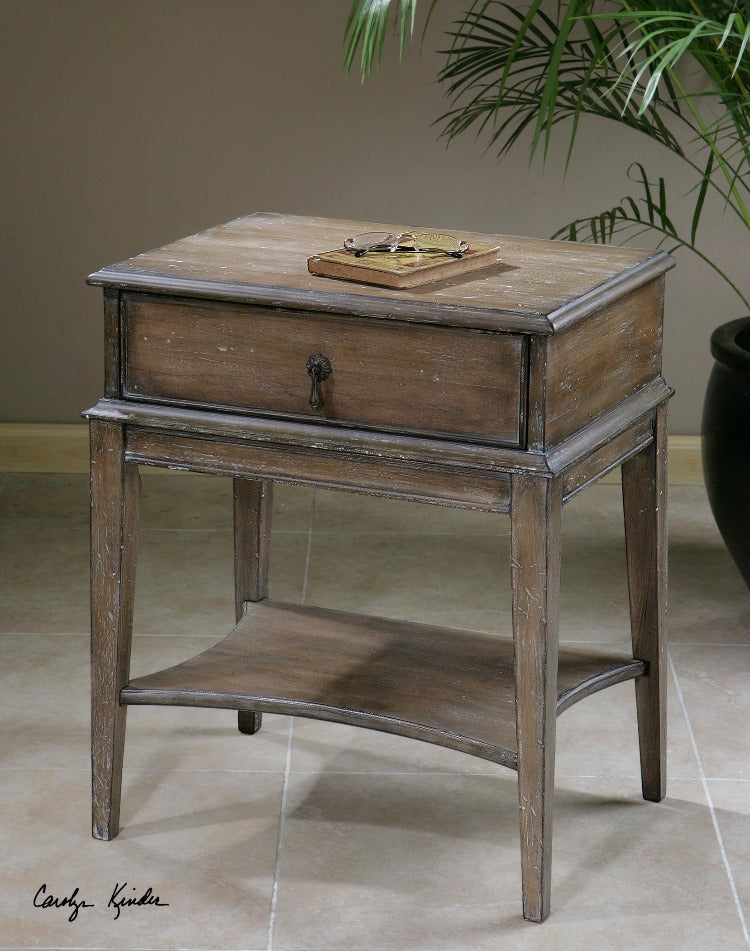 Hanford Weathered Accent Table