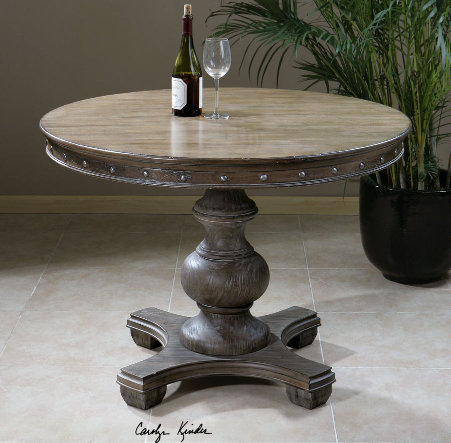 Sylvana Wood Round Dining Table - taylor ray decor