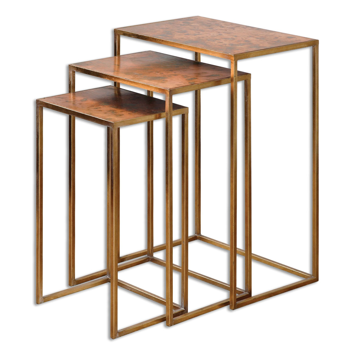 Copres Oxidized Nesting Tables Set/3