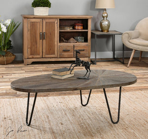 Leveni Reclaimed Wooden Coffee Table - taylor ray decor