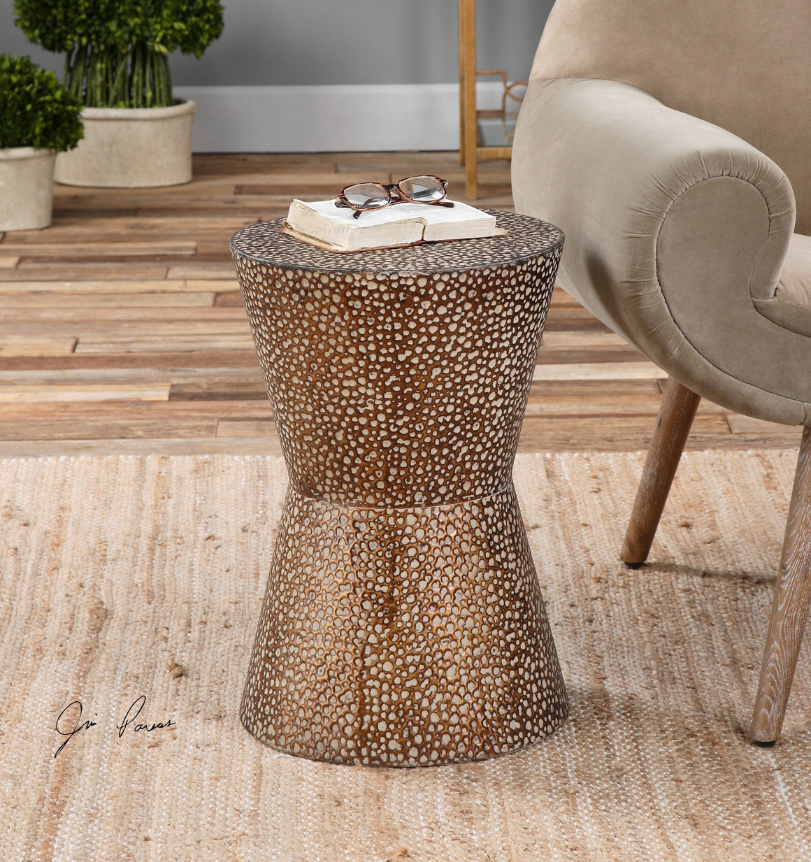 Cutler Drum Shaped Accent Table - taylor ray decor
