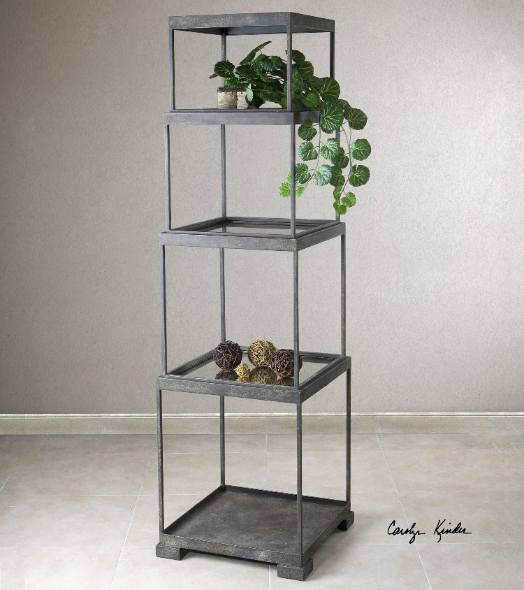 Friedman Metal Etagere - taylor ray decor