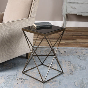 Uberto Caged Frame Accent Table
