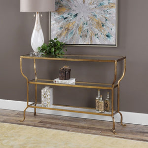 Deline Gold Console Table - taylor ray decor