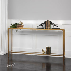 Hayley Gold Console Table - taylor ray decor