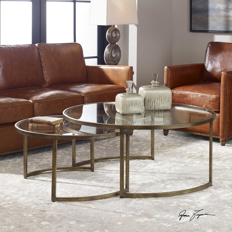 Rhea Nesting Coffee Table, S/2
