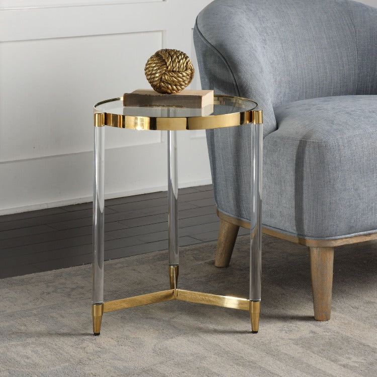 Kellen Glass Accent Table