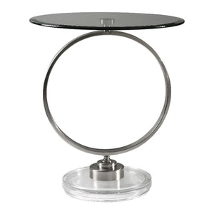 Dixon Brushed Nickel Accent Table