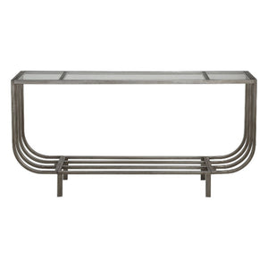 Arlice Bright Silver Console Table - taylor ray decor