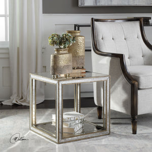 Julie Mirrored Accent Table - taylor ray decor