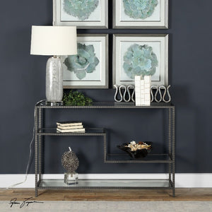 Leo Industrial Console Table - taylor ray decor