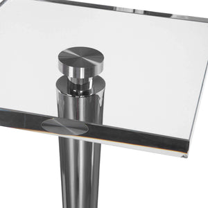 Campeiro Drink Table, Nickel - taylor ray decor