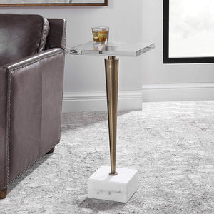 Campeiro Drink Table, Brass - taylor ray decor